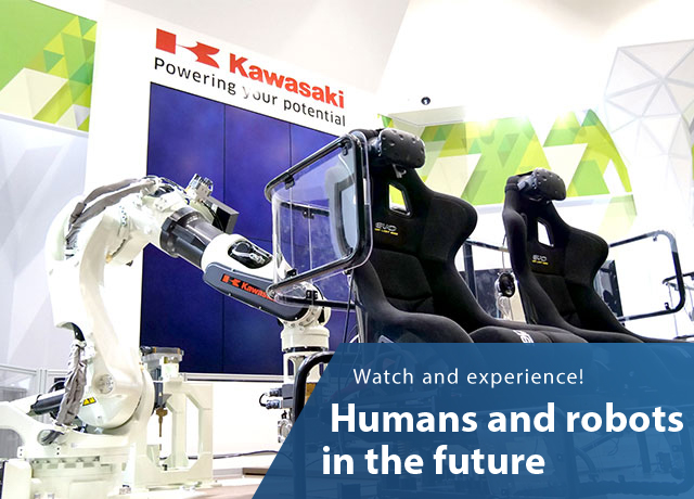 Watch and experience!Humans and robots in the future